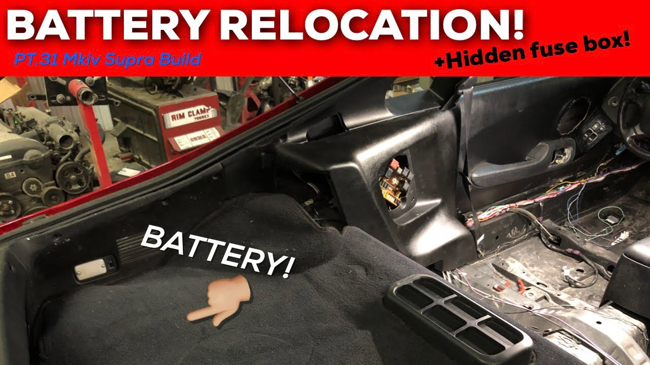 Toyota Supra Fuse Box Relocation Wiring Diagram Yaris Pt 31 Mkiv Build Battery Rh Youtube Com Echo