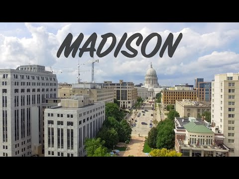 DRONE OVER MADISON, WISCONSIN
