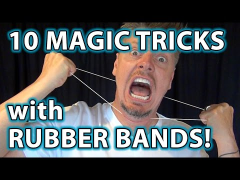 TOP 10 Magic Pranks with Rubber Bands!! - Easy to do Tricks!