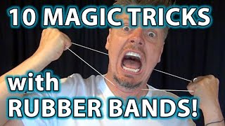 Gambar cover TOP 10 Magic Pranks with Rubber Bands!! - Easy to do Tricks!
