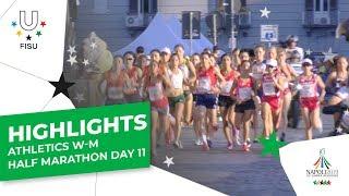 Highlights Day 11 I Athletics Mens And Womens Half Marathon #napoli2019