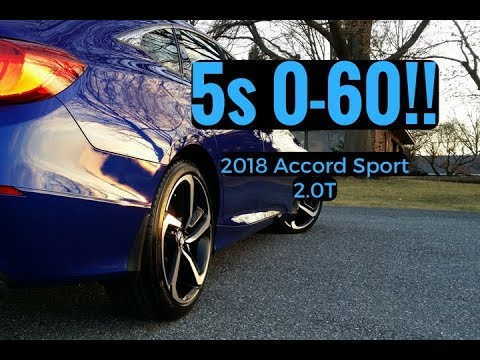 0 60 In 5sec Wheelspin New 2018 Accord Sport 2 0t