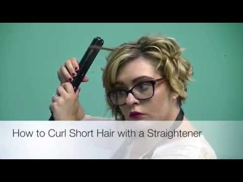 How to Curl Short Hair With a Straightner