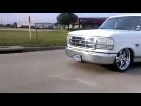Sick 1996 Ford F 150 Bagged On 24x15s Youtube