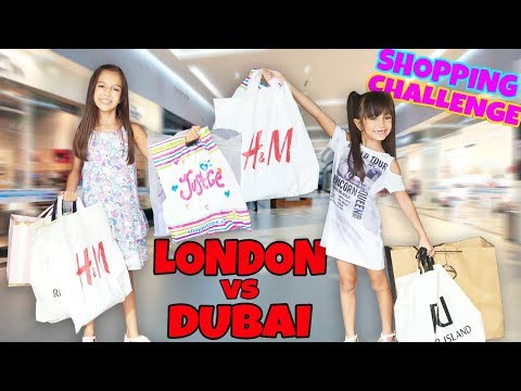 THE SHOPPING CHALLENGE Sister Buys my Outfits! DUBAI vs LOND