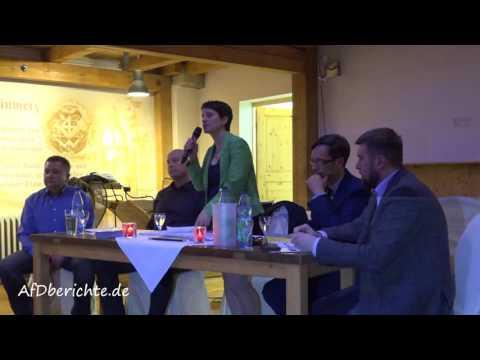 Klartext Runde der AfD SOE in Cotta mit Frauke Petry