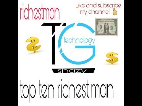 world top ten richest man || hindi by tech gate || techgate.