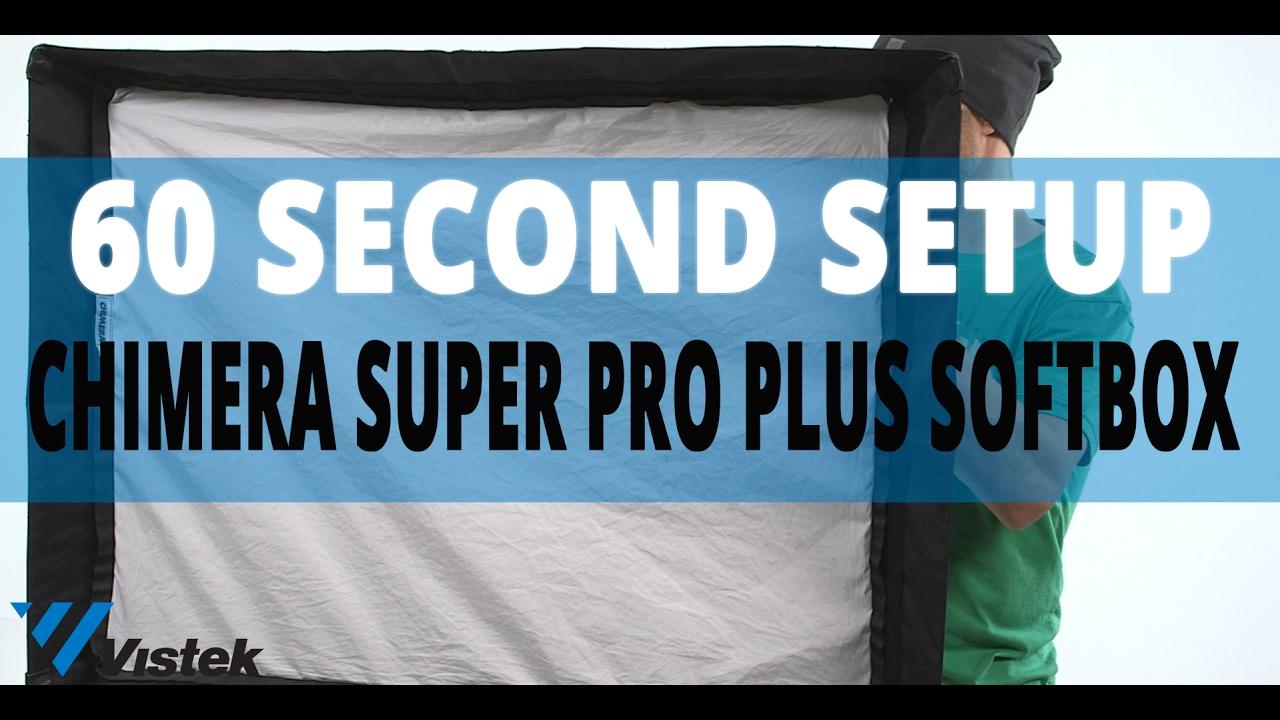 Chimera Super Pro Plus Softbox 60 Second Set Up