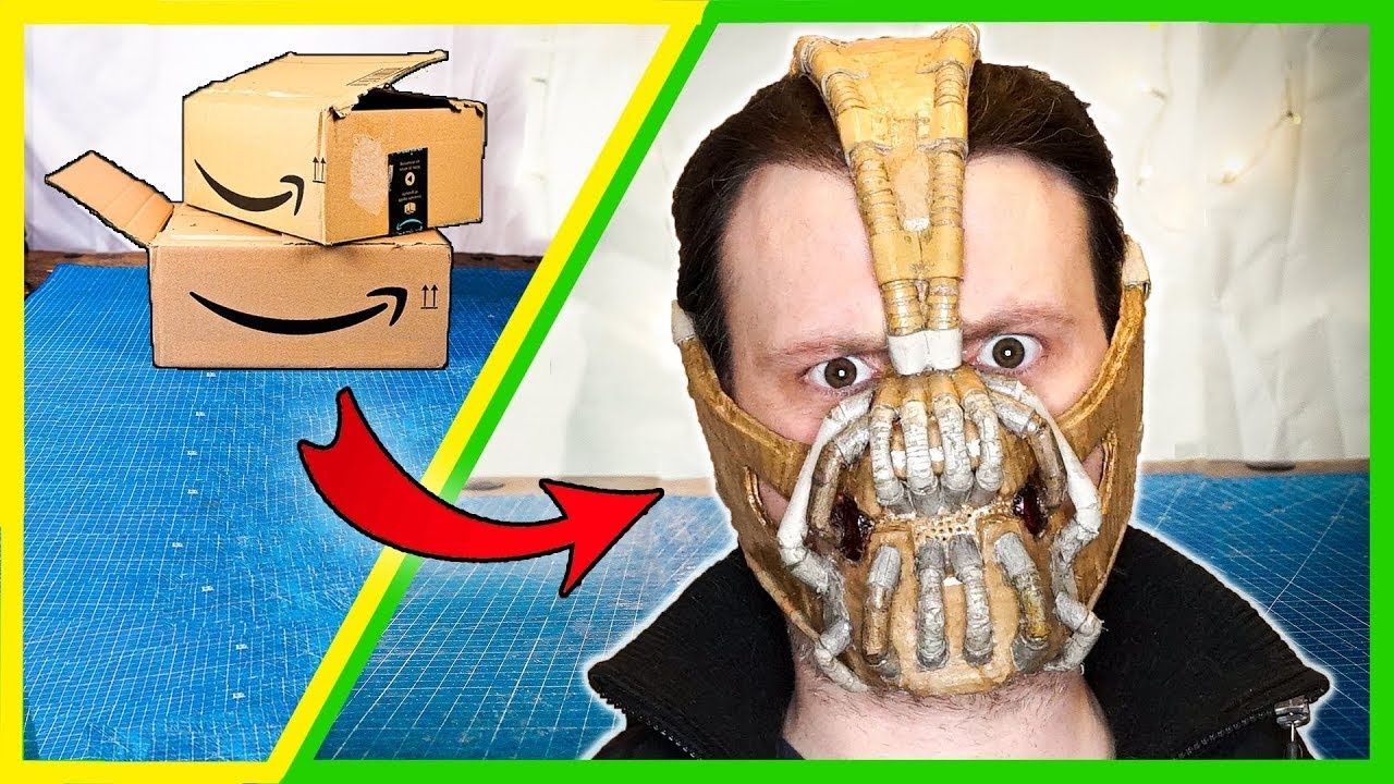 How to make Bane mask at home with CARDBOARD