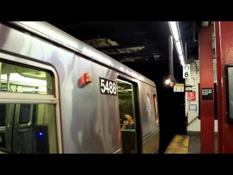 IND Subway: Queens Bound R46 (R) Train (via 6th Ave) at 47th / 50th Streets