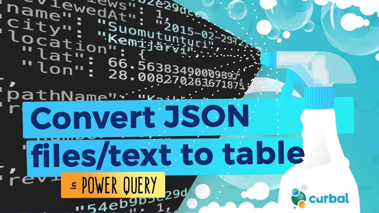 Convert JSON files to tables in Power Query/ Power BI