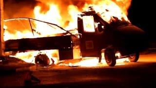 Полтава, взрыв авто с боеприпасамы, фейерверк