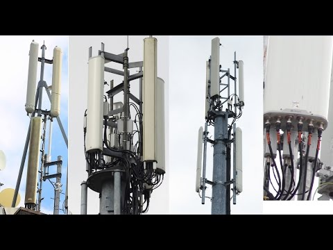Devon Mobile masts in ultra detail. 2600MHz CA 4G+, RRUs, lamppost masts, flagpoles, Legacy.