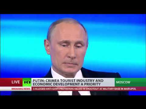 Putin; 'Russian servicemen protected the will of the Crimean people' [democracy]