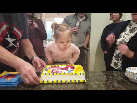 Blowing out the candles - 2nd birthday