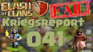 """COC [Kriegsreport #041] """"Zwischen Genie und Fail""""   Let´s Play Clash of Clans [DEUTSCH]"""