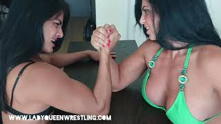 Intense ArmWrestling (Lady Queen vs Monica)
