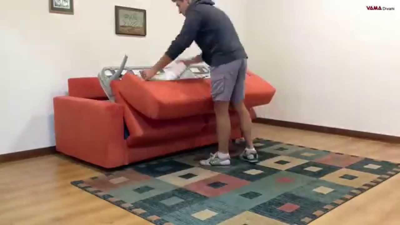 Movimento meccanismo divano letto a due pieghe youtube - Meccanismo divano letto ...