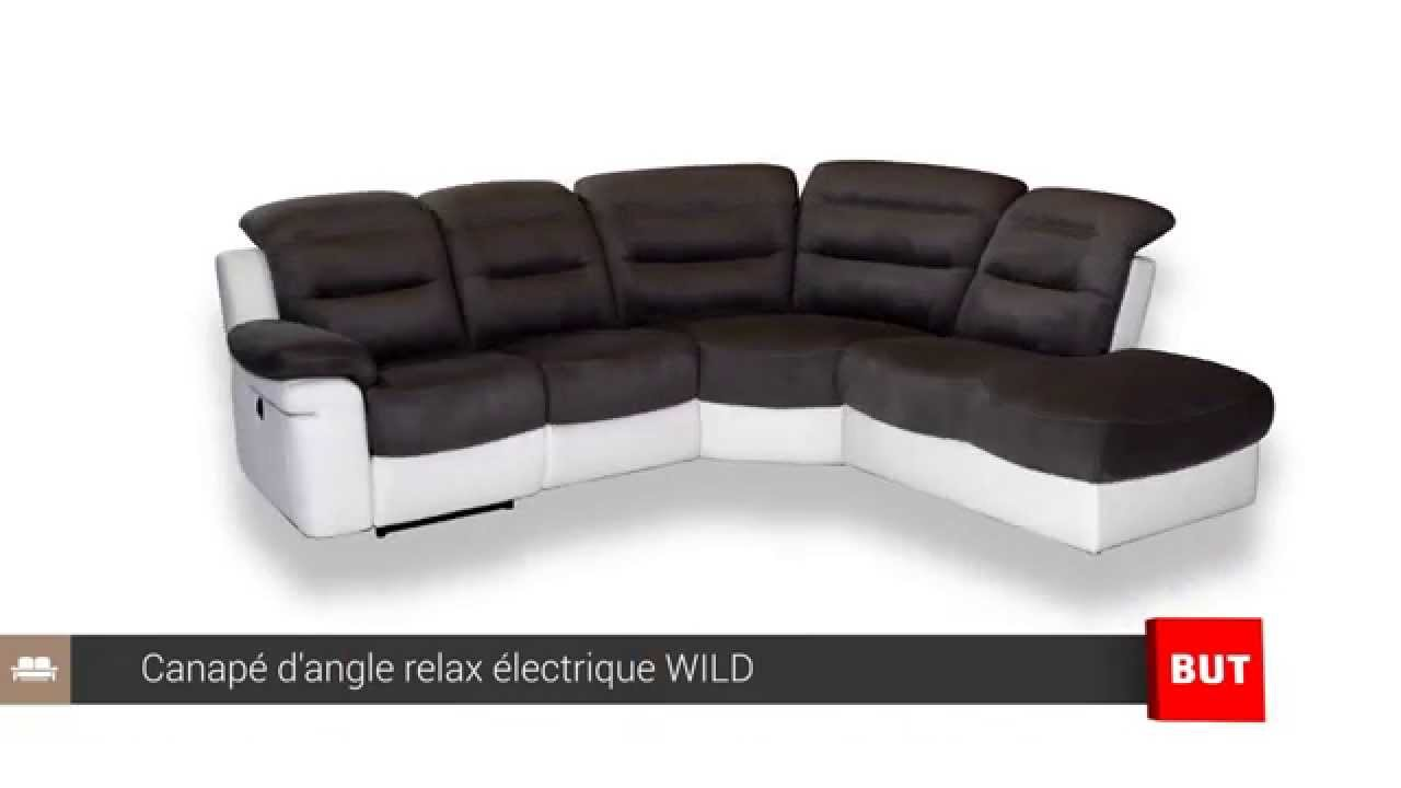 Canap d 39 angle relax lectrique wild but youtube for Canape relax but