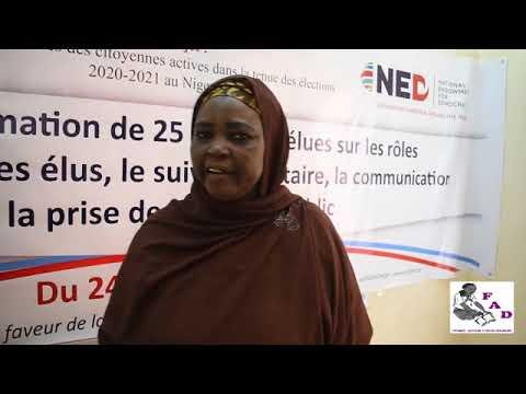 Mme Sâa Jajouna : Atelier de formation de 25 femmes élues