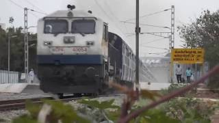 Indian Railway UBL WDP-4B Basava Express Raising Dust Skipping KDGH