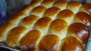 Дрожжевые пирожки на сыворотке с яблочной начинкой/Yeast cakes on a buttermilk. with apple filling