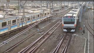 JR東日本E233系0番台通過@三鷹電車庫跨線橋 (2018/11/25)