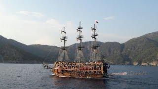 Fethiye ölü deniz korsan gemisi