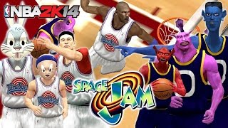 NBA 2K14 - Space Jam Mod - TuneSquad vs Monstars (PC Ultra 1080p 60fps)