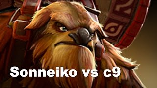 Sonneiko Earthshaker vs c9 TI5 DOTA 2.