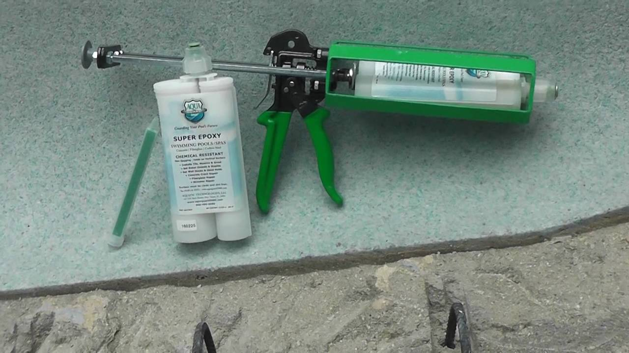 8. How to Repair Swimming Pool Cracks | AquaGuard 5000 Super Epoxy Injector  System
