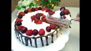 Торт Праздничный Клубничный! Festive Strawberry Cake! احتفالي كعكة الفراولة!