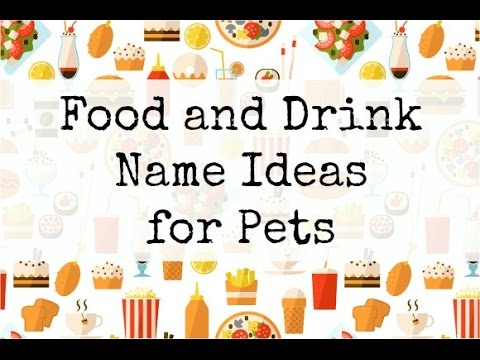 150+ Food and Drink Pet Name Ideas