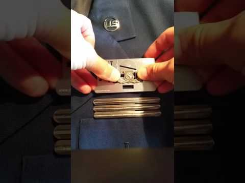 USAF Pin-iT Card.  How to put together your Air Force Uniform. http://pinitcard.com Military medals