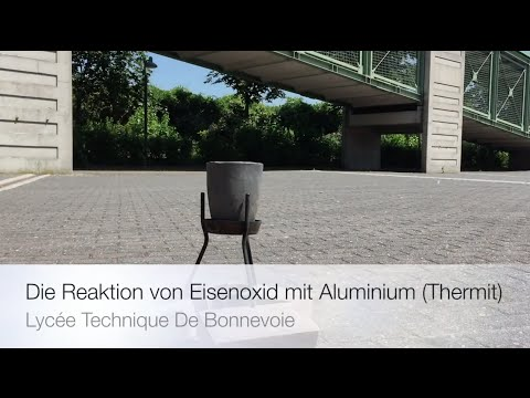 thermitverfahren die reaktion von eisenoxid mit aluminium thermit youtube. Black Bedroom Furniture Sets. Home Design Ideas