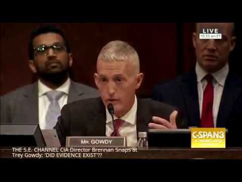 Former CIA Director Snaps at Trey Gowdy; 'DID EVIDENCE EXIST'??
