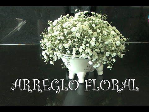 Vlog Como Hacer Arreglo Floral Con Flores Blancas Gypsophila Centro Di Fiori Centerpiece
