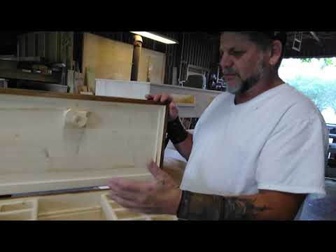 Wooden rustic men's jewelry box project