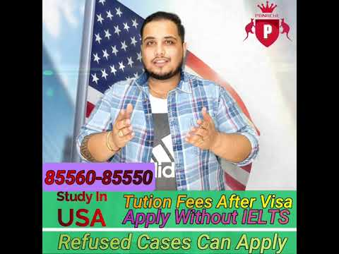USA Study Visa Without IELTS   Fees After Visa   Scholarship   Panache Immigration   85560-85550