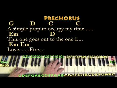 The One I Love (REM) Piano Cover Lesson with Chords/Lyrics ...
