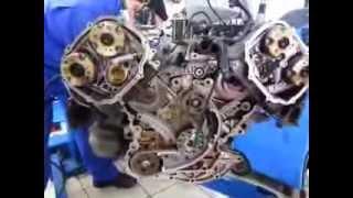 Замена цепи ГРМ двигателя Ауди А6 А4(Видео отчет по замене цепи ГРМ двигателей V6 Ауди Фольксваген Шкода., 2013-12-18T11:59:14.000Z)