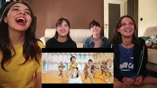 Reaction to BTS IDOL feat NICKI MINAJ with 3 crazy friends