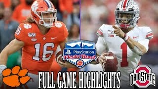 #2 ohio state buckeyes take on #3 clemson in the 2019 college football playoff semifinals/ fiesta bowl, winner advances to play #1 lsu national c...