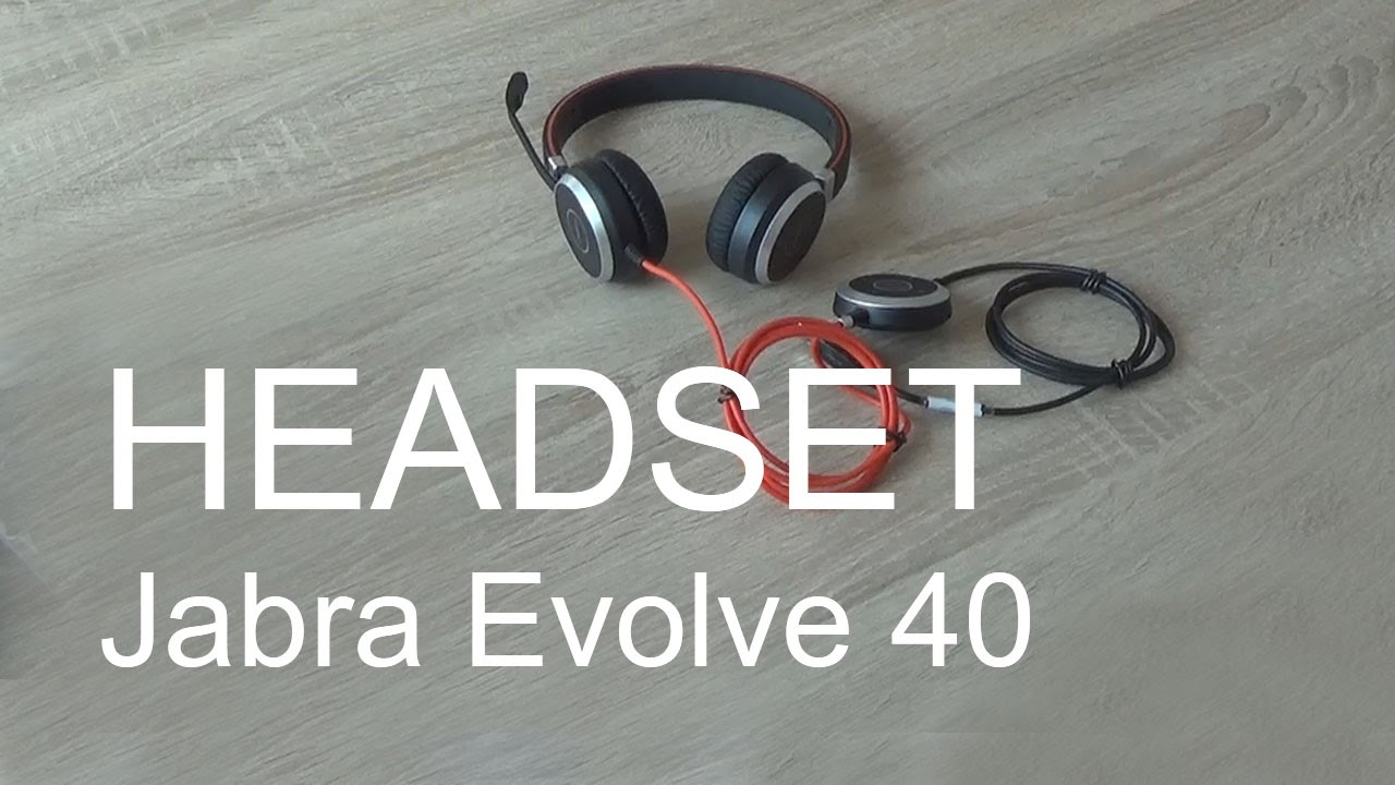 Headset Jabra Evolve 40 Youtube