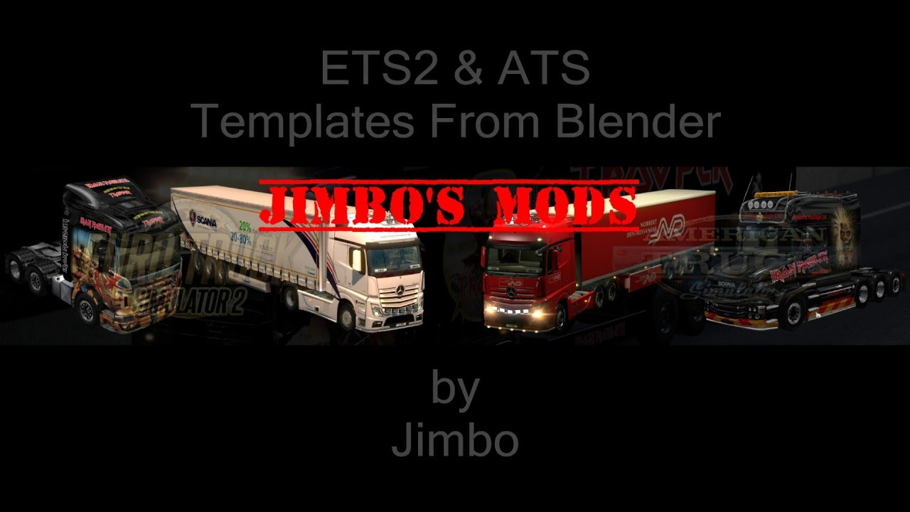 how to make ets2 ats truck trailer templates youtube