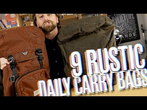 9 Rustic Daily Carry Bags + Backpacks