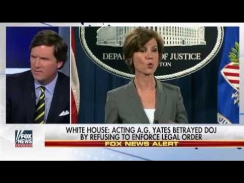 Tucker Carlson: Trump sacks defiant performing attorney standard Sally Yates - YOU'RE FIRED!