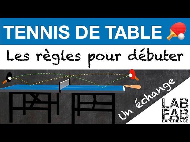 Tennis de table - Un échange (L'essentiel des règles 3/4)