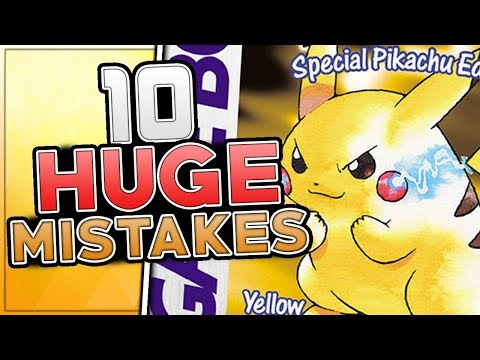 10 HUGE Mistakes & Glitches In Pokemon Yellow (Generation 1)