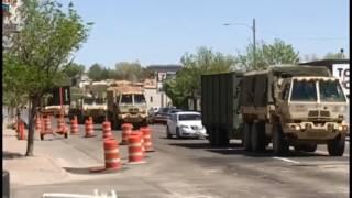Massive Military Convoy In Downtown Pueblo, Colorado for Raider Focus